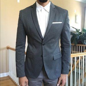 Zara Man Slim Fit Gray Blazer 40R
